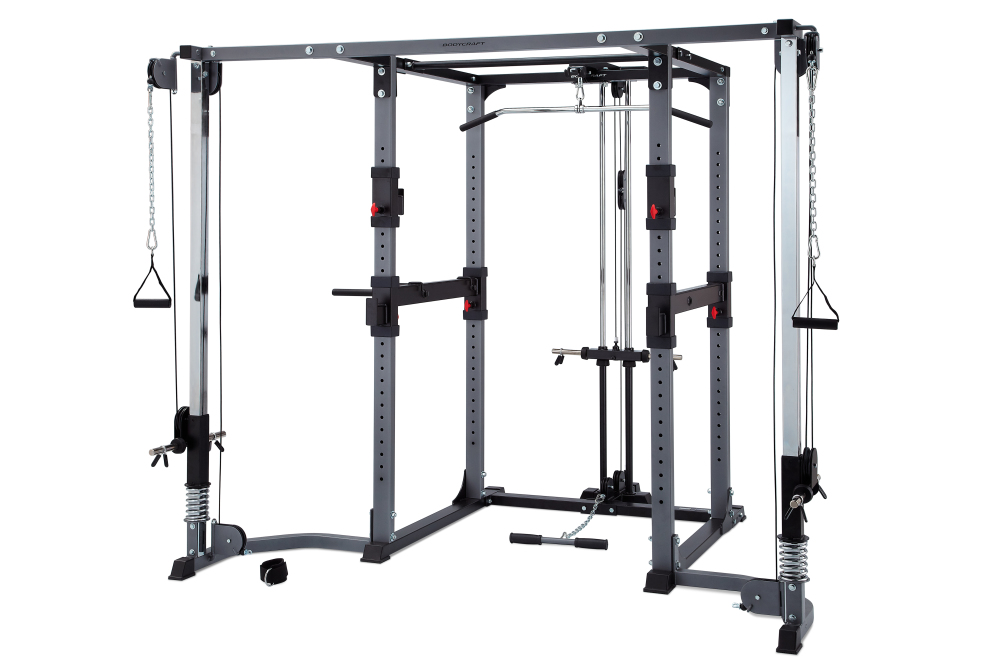 bodycraft f430 power rack with plate loaded lat row cable cross over new