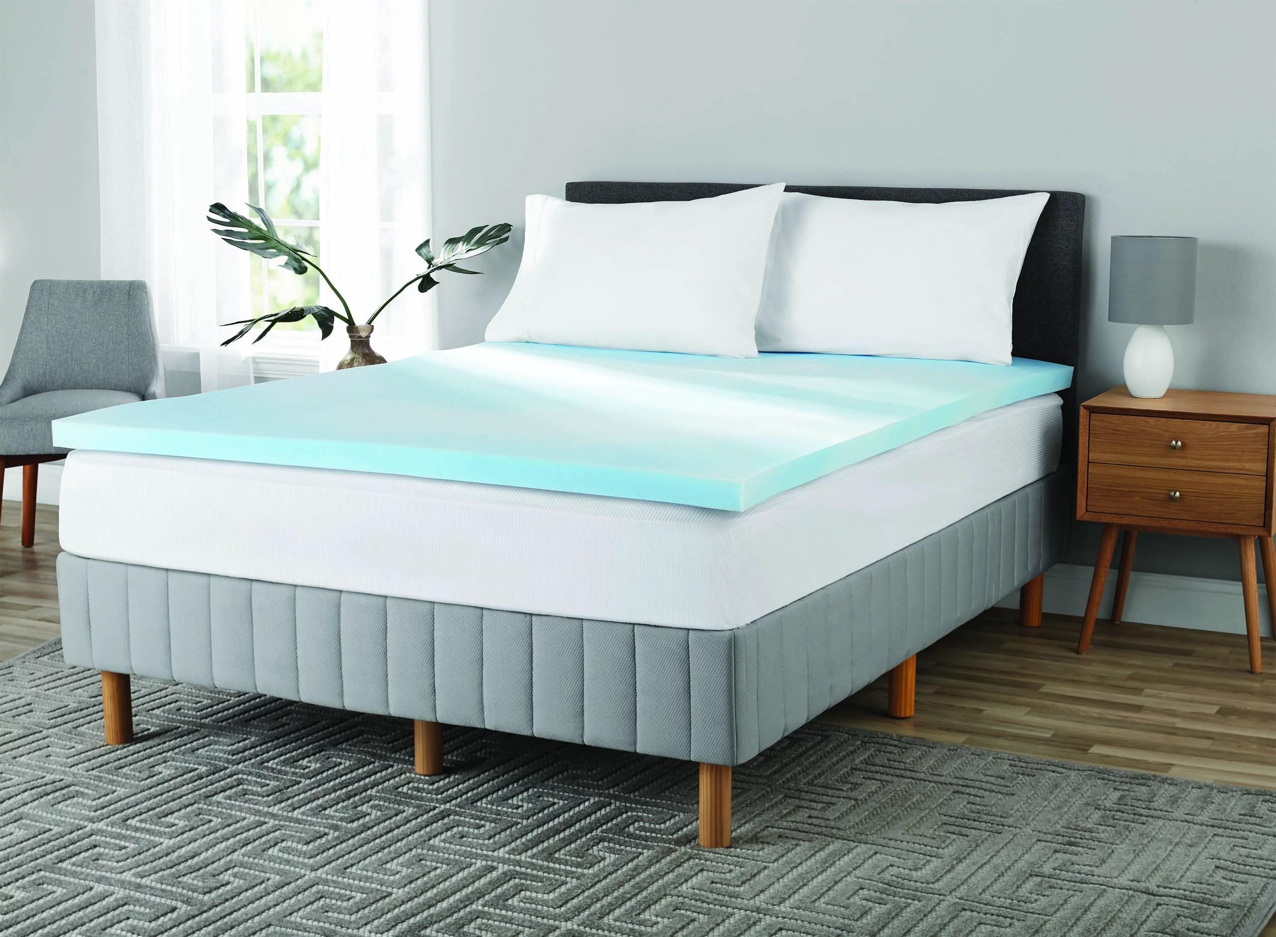 mainstays 2 inch gel infused memory foam mattress topper twin walmart com