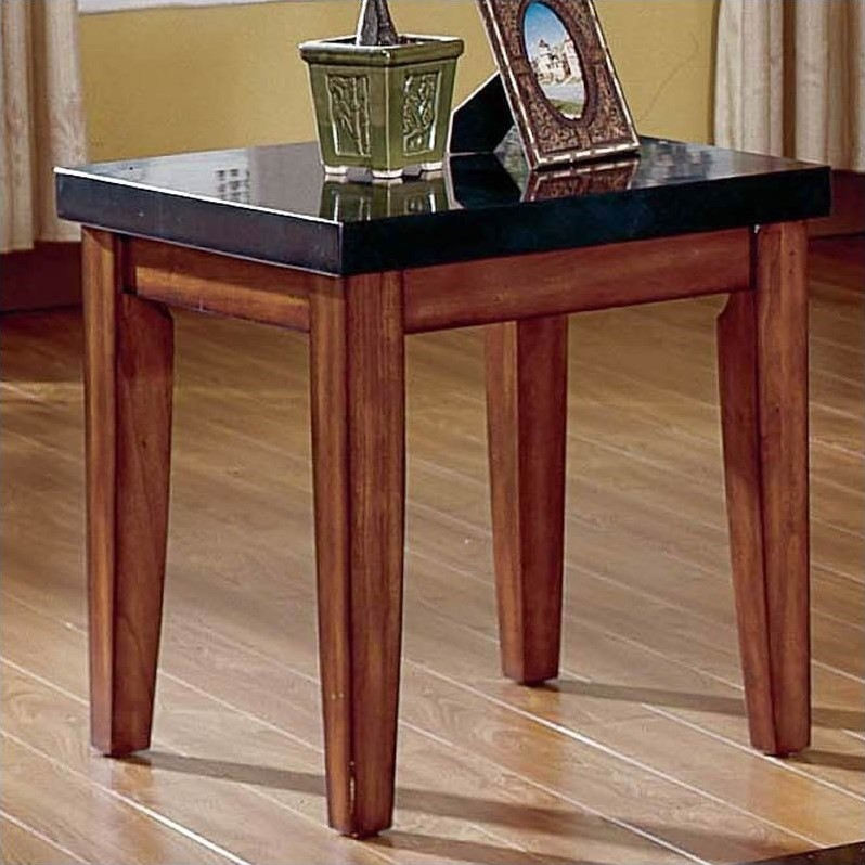 kingfisher lane granite top end table