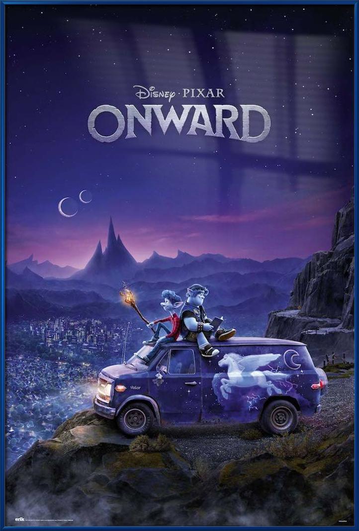 onward framed disney pixar movie poster regular style van size 24 x 36