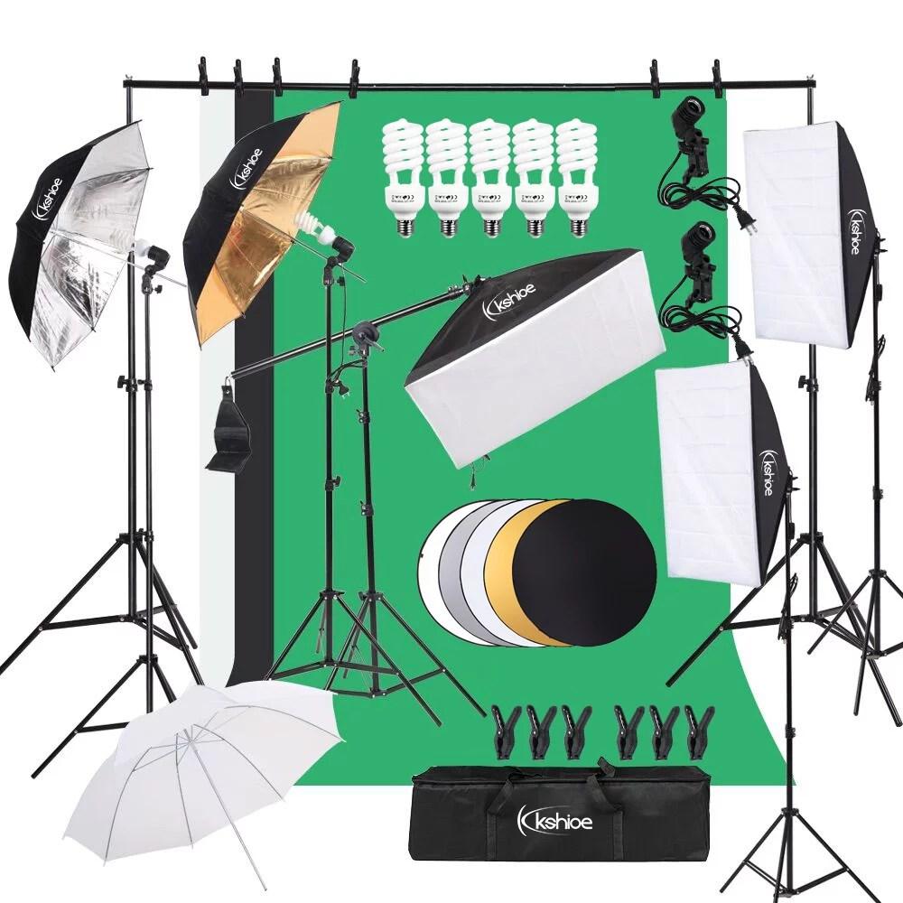 ktaxon 30pcs photo studio photography lighting kit umbrella softbox backdrop stand set