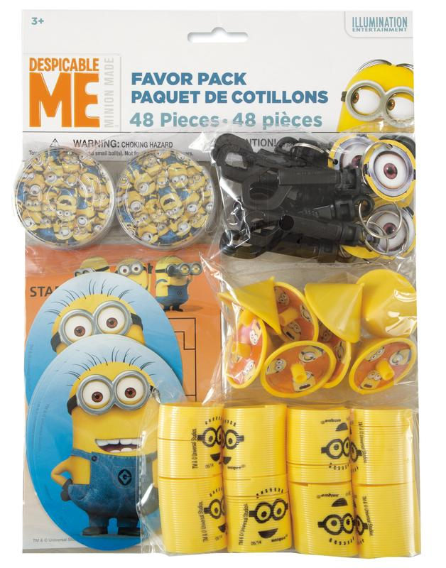 Despicable Me Minions Party Favors For 8 48pc Walmart Com Walmart Com