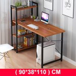 Computer Desk With Shelves Modern Style Computer Table Variety Of Display Office Table With 4 Tier Bookshelf Study Writing For Home Office Walmart Com Walmart Com