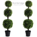 Bornbridge Artificial Boxwood Topiary Ball Tree 4 Boxwood Ball Tree Indoor Outdoor Topiary Trees Boxwood Artificial Outdoor Plants Lifelike Wintergreen Boxwood Plant 2 Pack Walmart Com Walmart Com