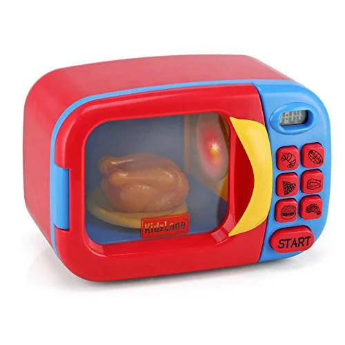 kidzlane microwave oven toy for kids pretend play kitchen accessories toy