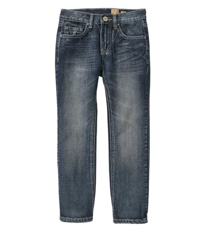 Tokyo Five Boys' Straight Leg Destructed Pocket Fashion Denim