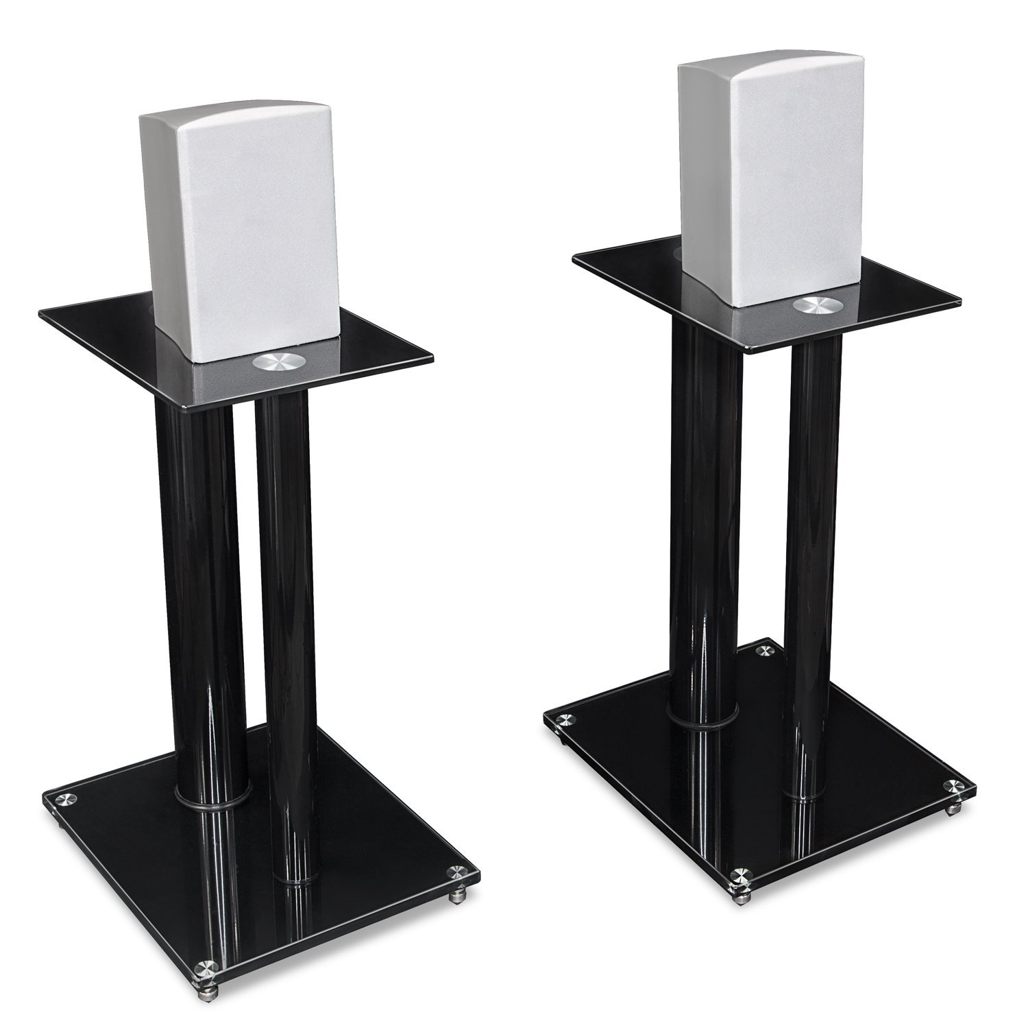 mount-it! speaker stands for book shelf and surround sound speakers
