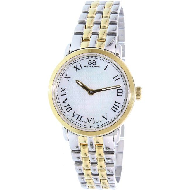 88 Rue Du Rhone Women's Double 8 87WA120060 Gold Stainless-Steel Swiss Quartz Fashion Watch