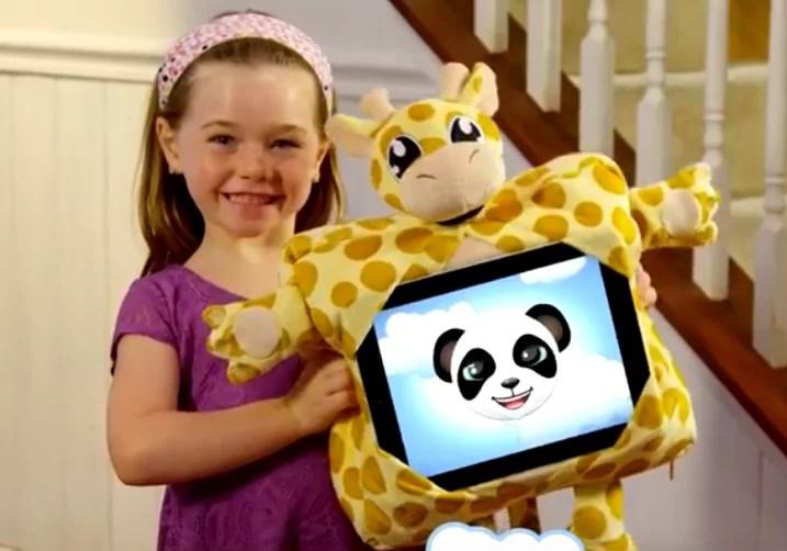 gogo pillow kids travel pillow tablet holder backpack giraffe