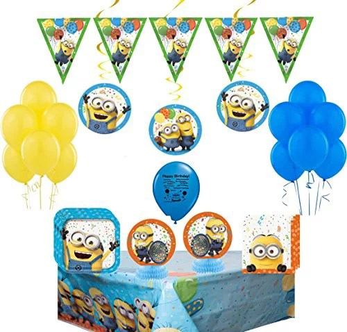 Minions Party Supplies And Room Decorating Kit Complete Tableware And Decoration Bundle Walmart Com Walmart Com