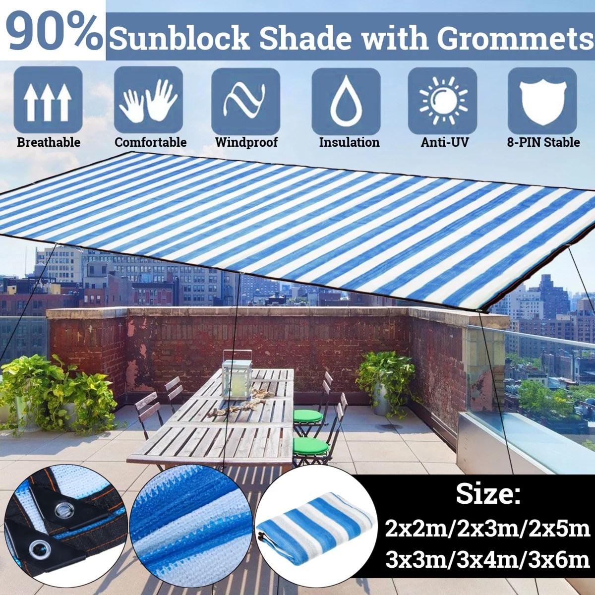 90 shade fabric cloth garden decor outdoor patio sun shade cloth with grommets garden sun shade sails canopy shelter cover sunshades for yard