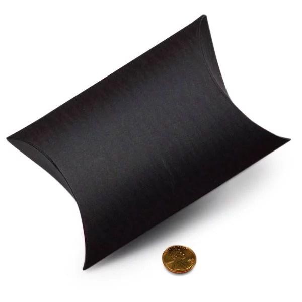 black pillow boxes 5 1 8 x 1 1 2 x 5 3 4 quantity 200 width 1 1 2 by paper mart