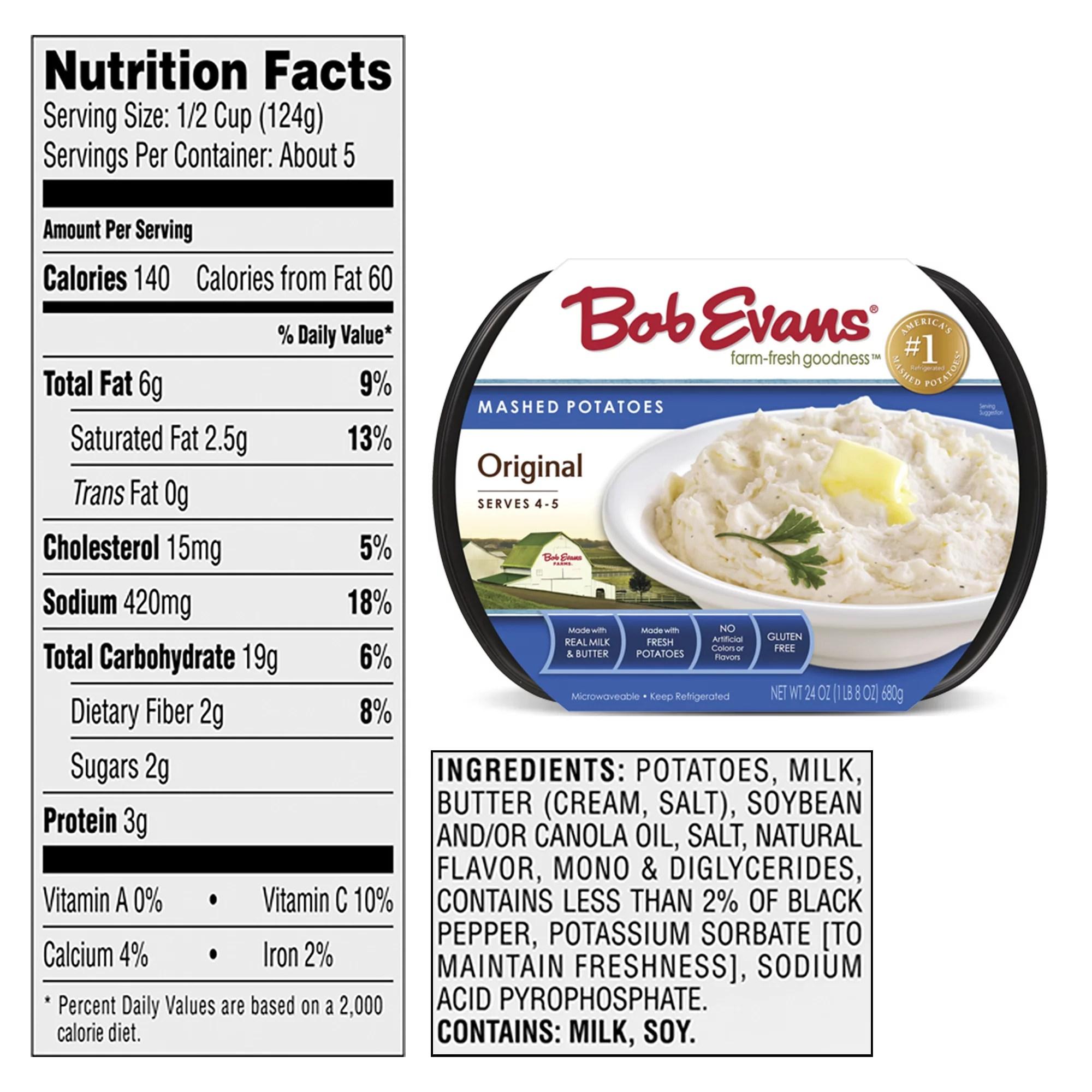 bob evans original mashed potatoes 24 oz pack of 1