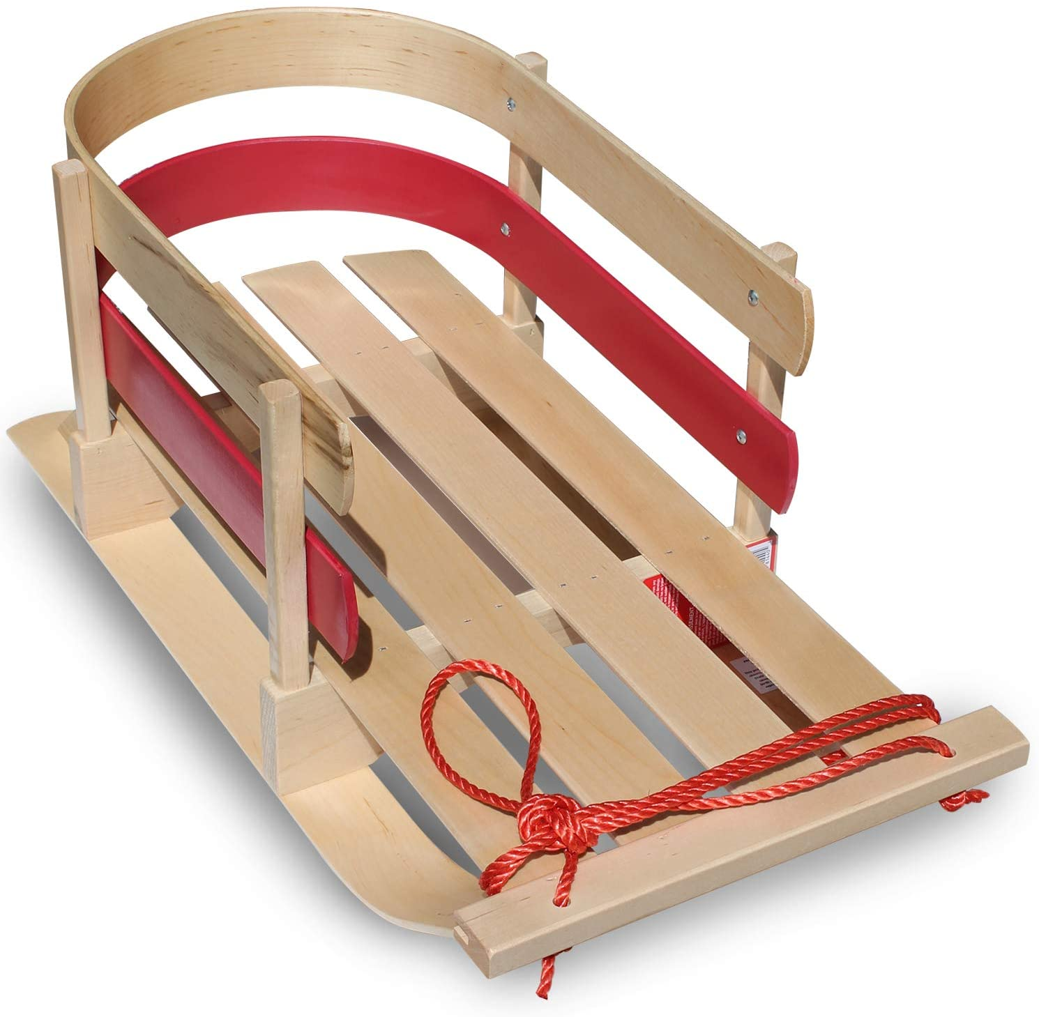 flexible flyer baby pull sled wood toddler to boggan wooden sleigh for kids
