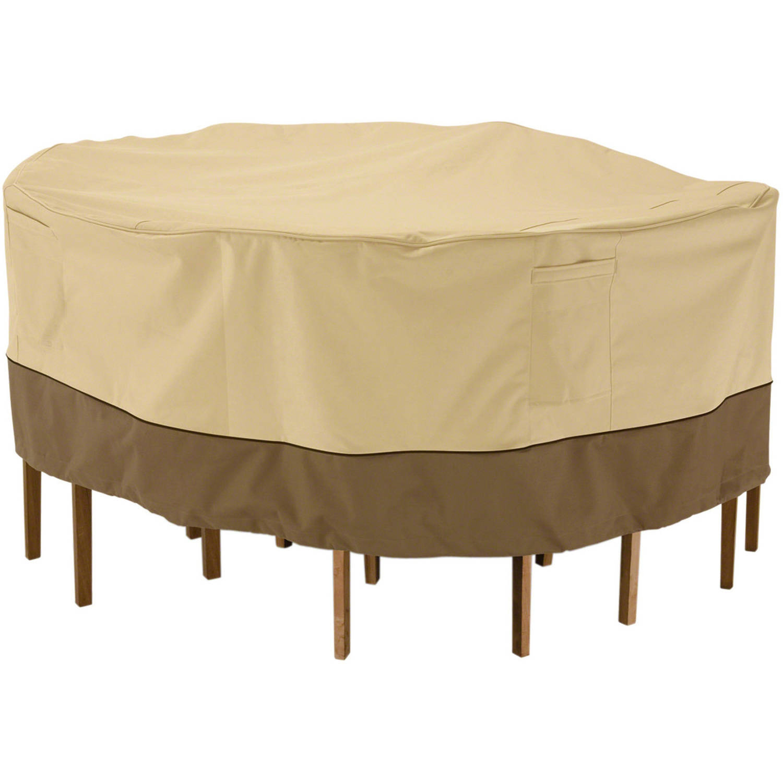 classic accessories veranda water resistant 94 inch round patio table chair set cover walmart com