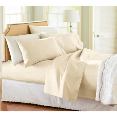 Better Homes and Gardens 300 Thread Count King Sheet Set, Ivory