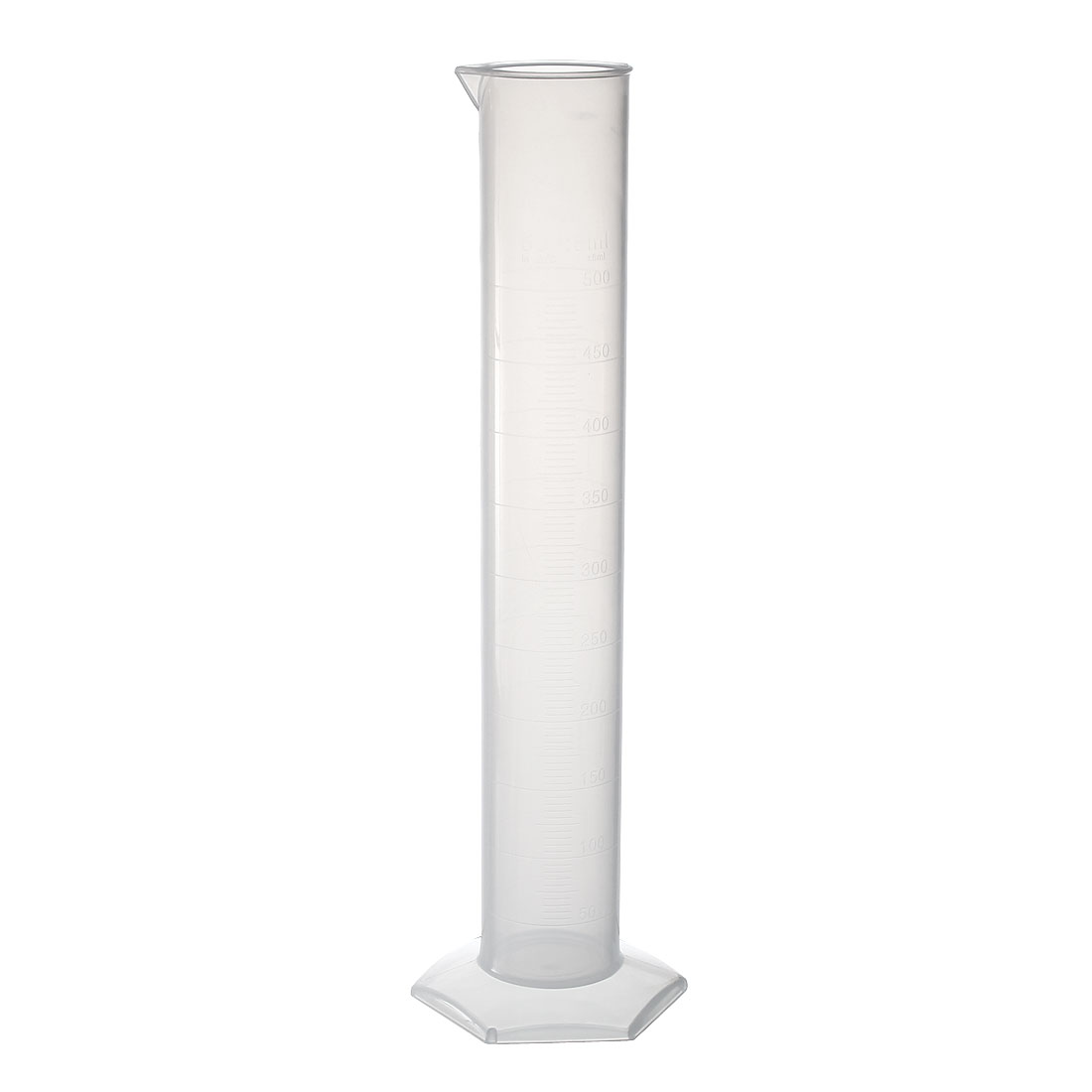 500ml Laboratory Measurements Clear White Plastic Hex Base