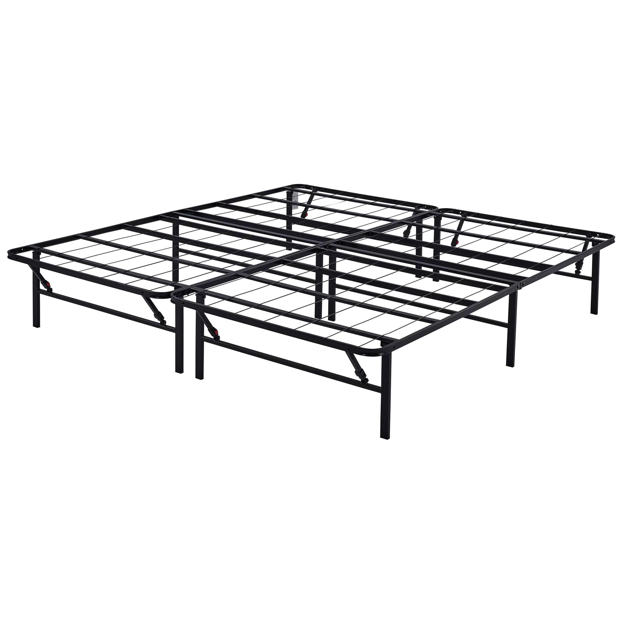 Platform King Size Bed Frame 14 Inch Mattress Foundation