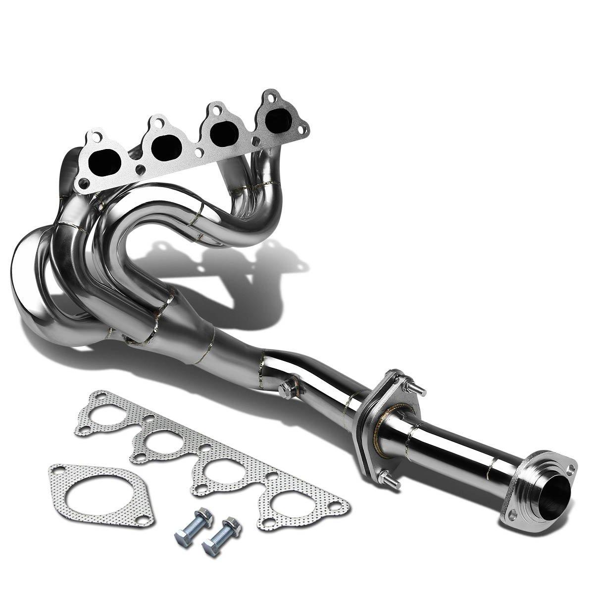 for 88 00 honda civic 1 5 1 6 d15 d16 sohc l4 chrome 4 1 performance header exhaust manifold walmart com