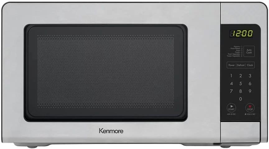 kenmore 70713 countertop microwave 0 7 cu ft stainless steel