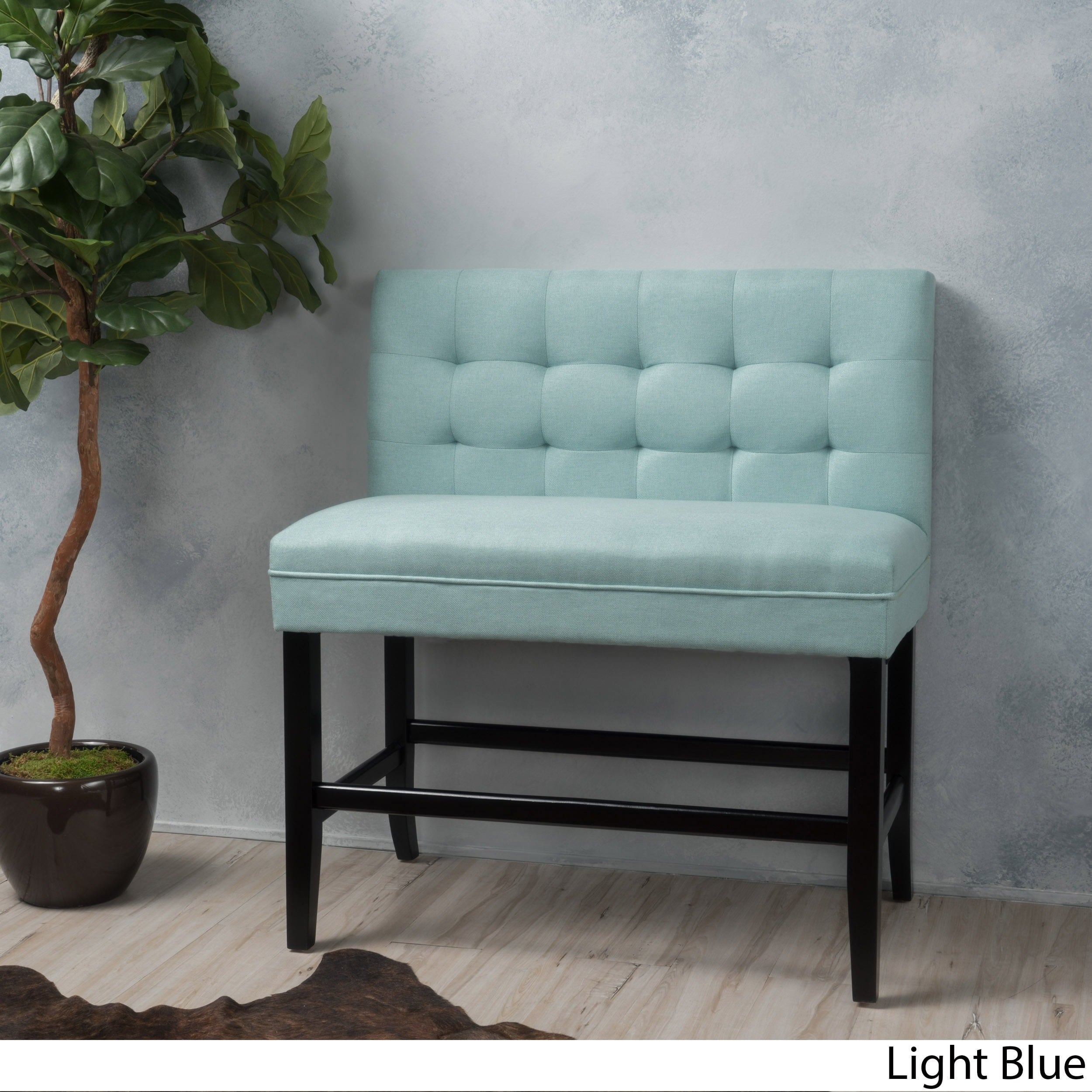 Christopher Knight Home Kenan 29 Inch Tufted Fabric Barstool Dining Bench By Walmart Com Walmart Com