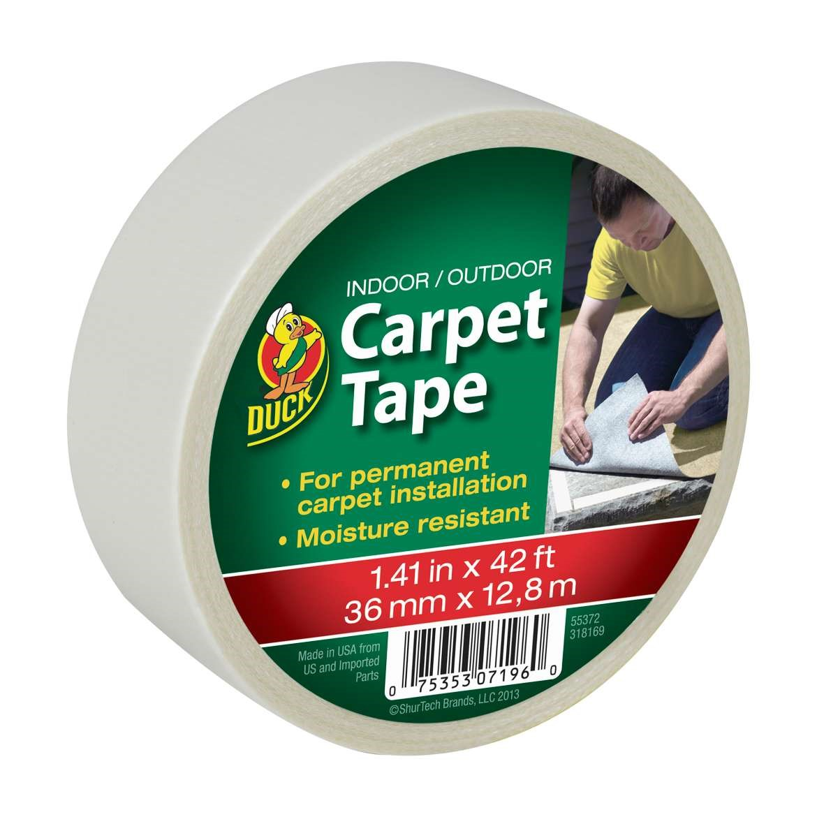 Duck Brand Indoor   Outdoor Carpet Tape  42    Walmart com