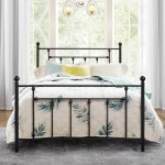 Antique Bed Frame Platform Bed With Victorian Iron Headboard Full Size Walmart Com Walmart Com