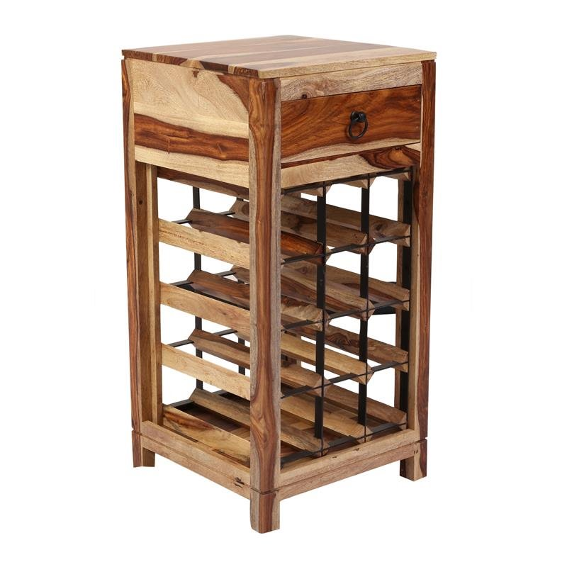 sheesham accents solid wood wine rack walmart com