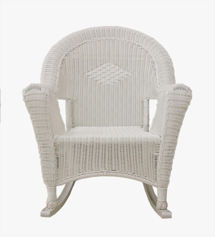 white resin wicker rocking chair patio furniture