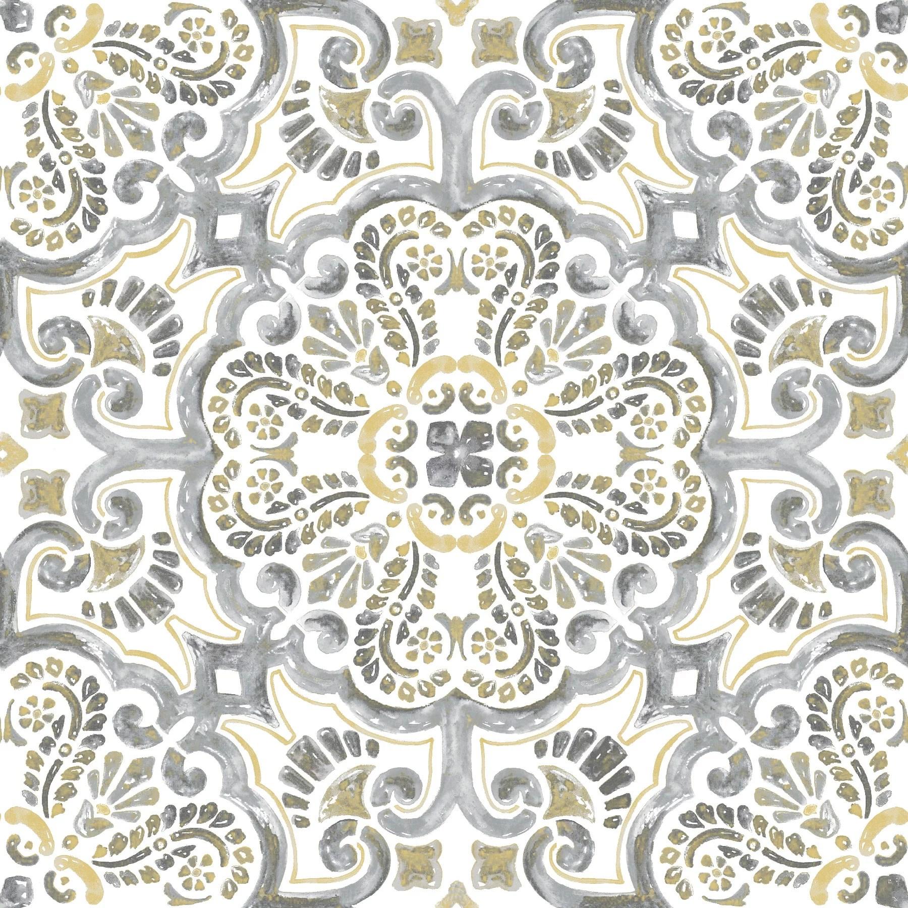 floorpops antico 12 in x 12 in peel and stick virgin vinyl floor tiles 10 pack