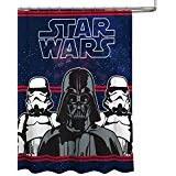 star wars darth vader microfiber 70 x 72 fabric shower curtain