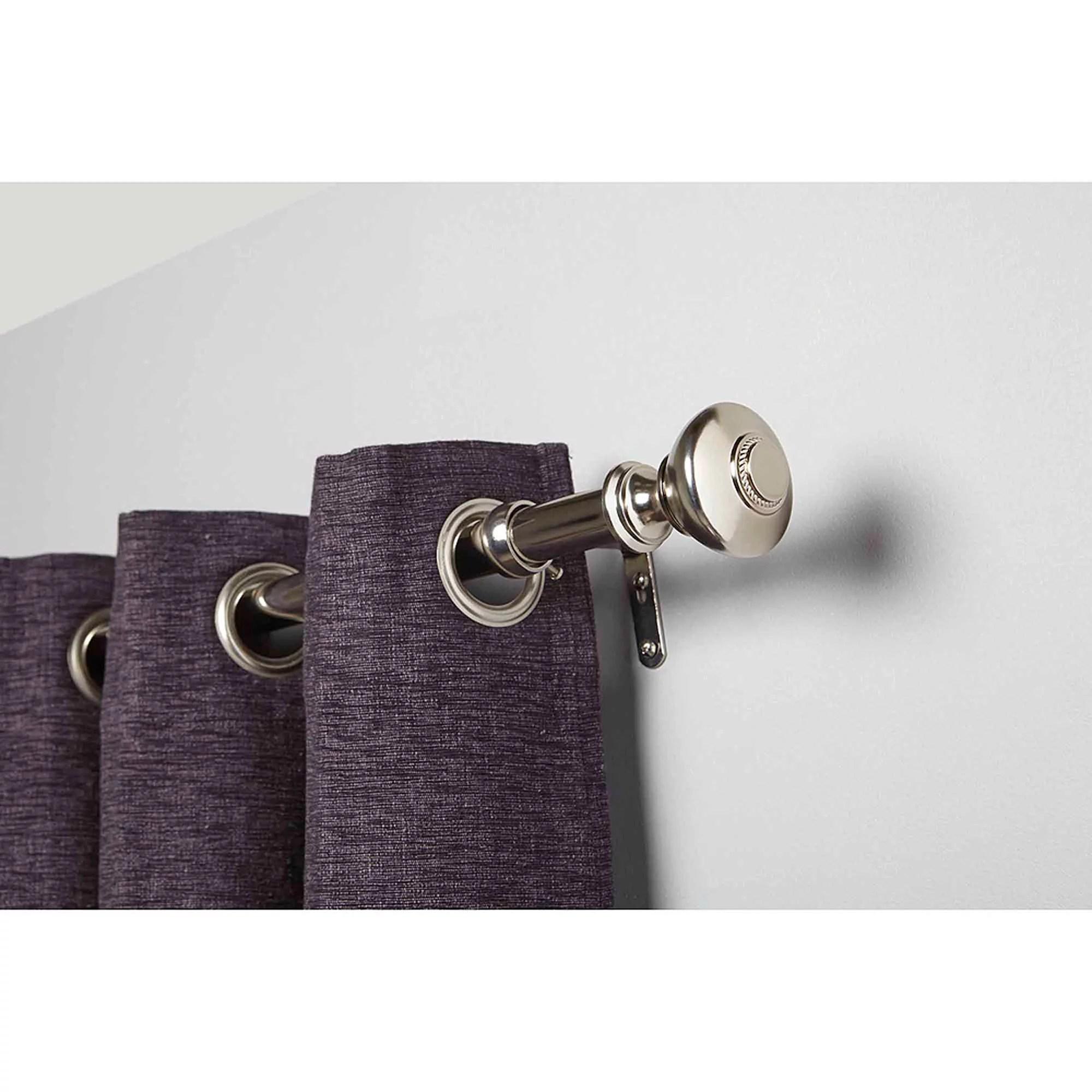 brushed nickel curtain rods walmart com