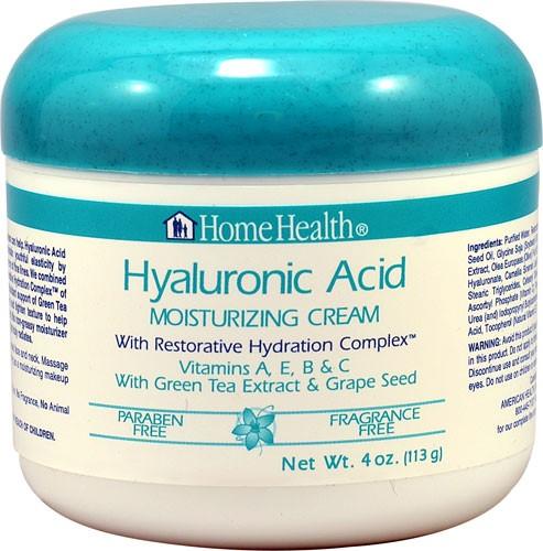 Home Health Hyaluronic Acid Moisturizing Cream 4 Oz