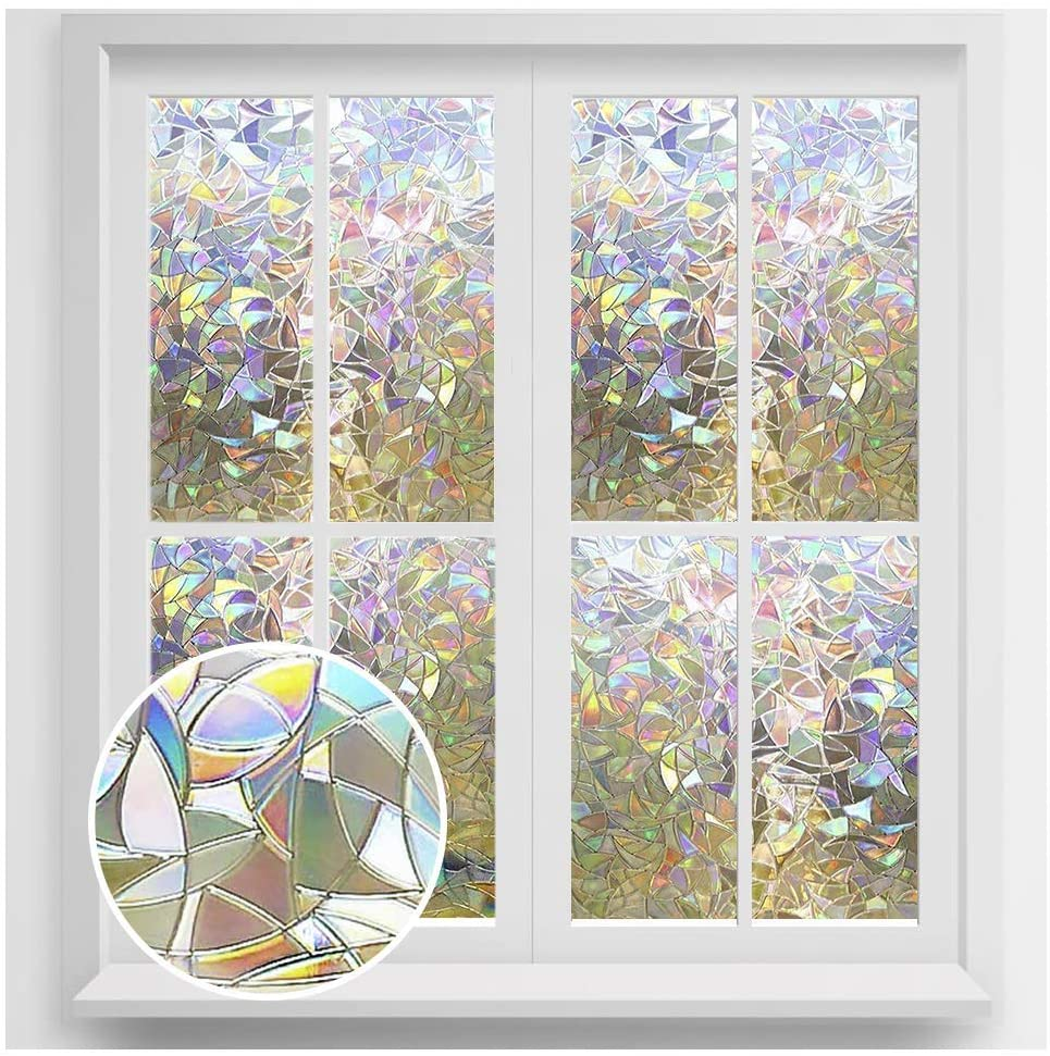 rainbow window film 3d no glue decorative window film privacy window film anti uv window tint window glass film privacy glass tint for home office