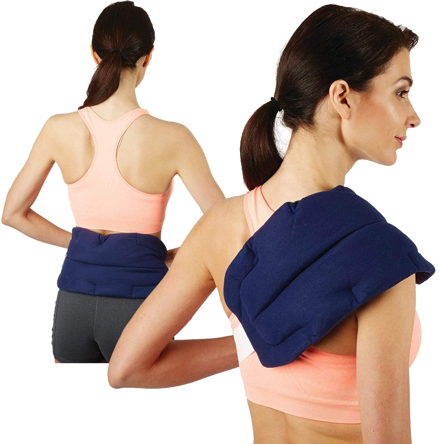 bed buddy back wrap heat pad microwaveable heating pad moist heating pad and cold pack for back pain back pain neck pain muscle pain
