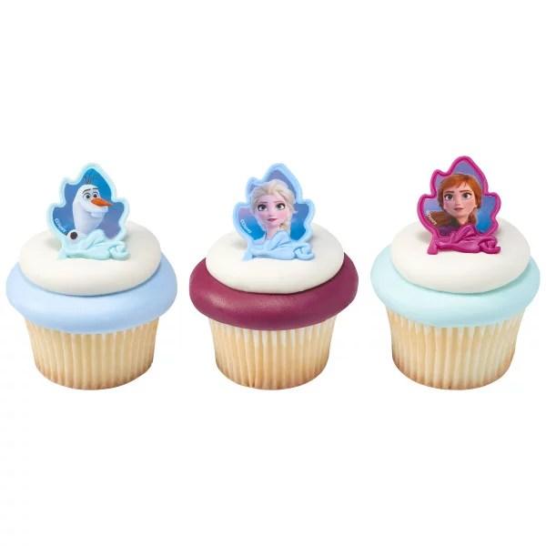 24 Disney Frozen 2 Cupcake Cake Rings Birthday Party Favors Cake Toppers Walmart Com Walmart Com