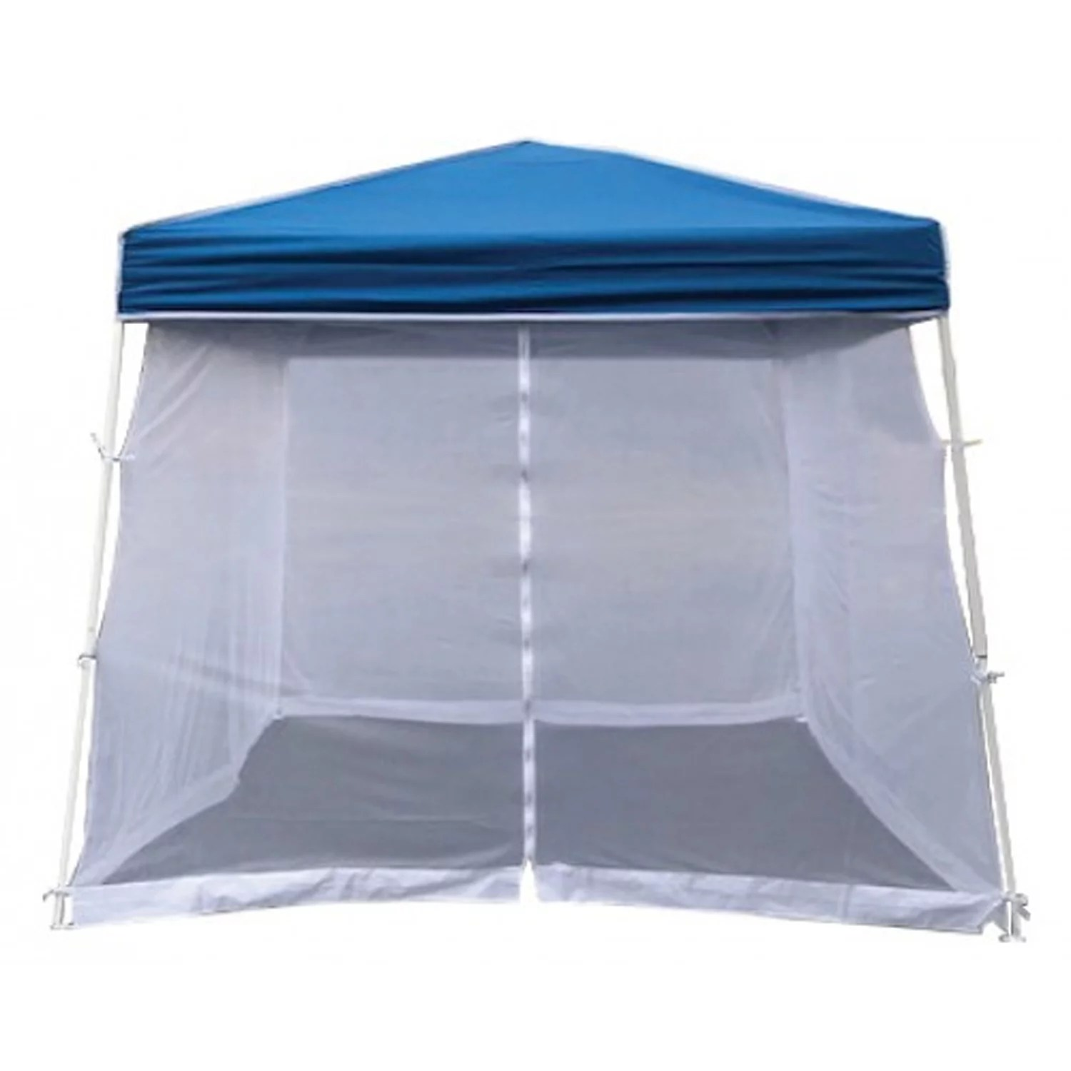 z shade horizon 10 foot angled leg screen room patio shelter attachment blue canopy not included walmart com