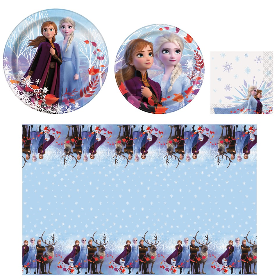 Frozen 2 Birthday Party Tableware Supplies For 24 Guests Includes Plates Napkins And Tablecloths Walmart Com Walmart Com