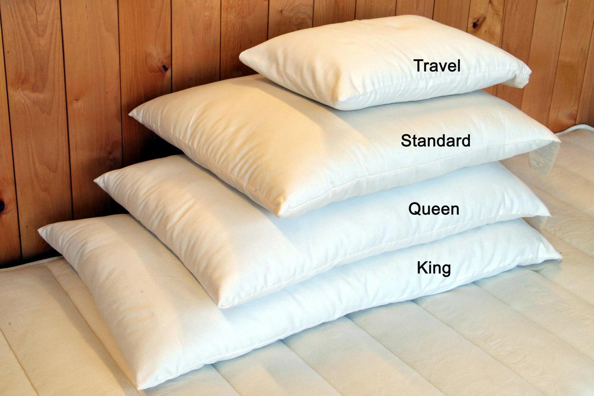 holy lamb organic cotton natural wool bed pillow walmart com