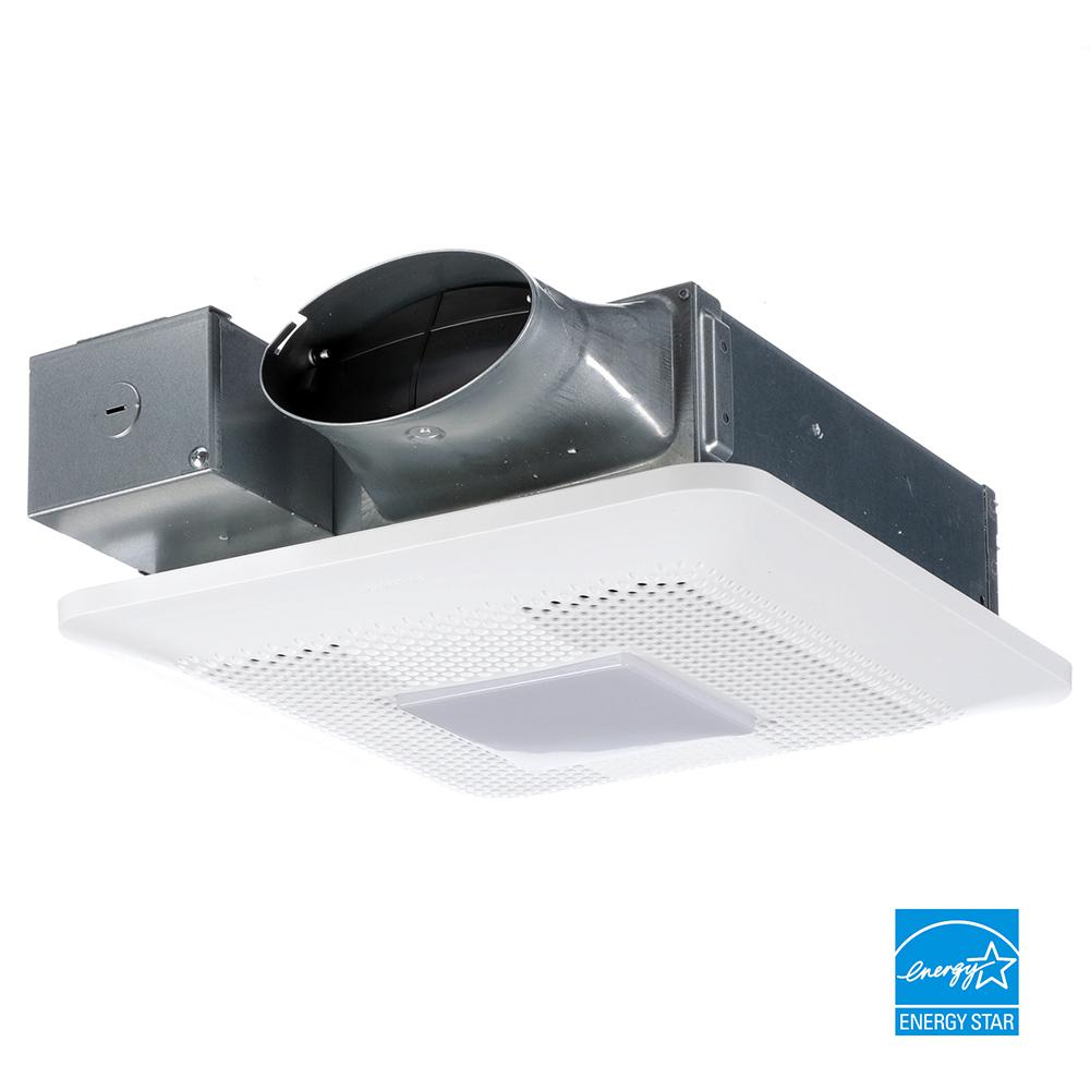 panasonic whisperthin pick a flow 80 or 100 cfm exhaust fan with led light low profile ceiling or wall and 4 in oval duct adapter new open box