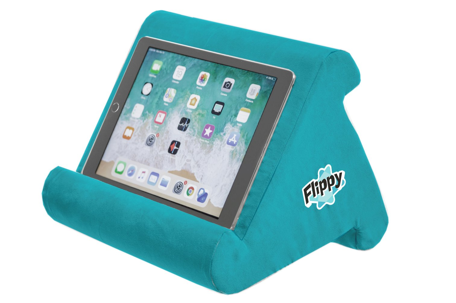 the original flippy multi angle soft pillow lap stand for ipads tablets ereaders smartphones books magazines