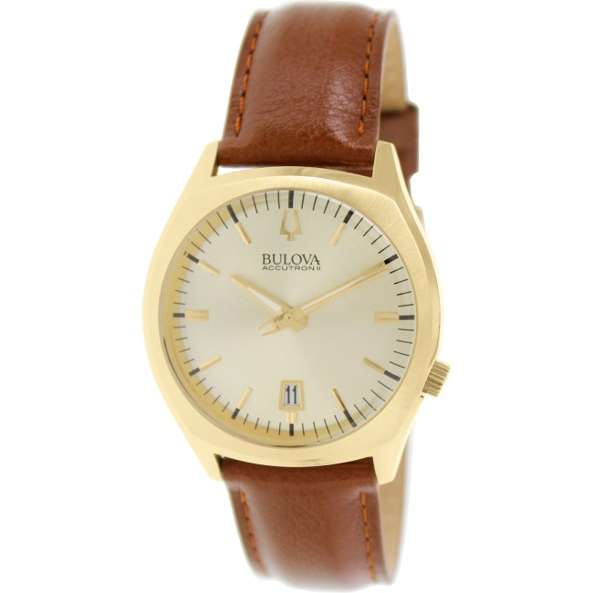 Bulova Men's Accutron II 97B132 Brown Leather Quartz Fashion Watch
