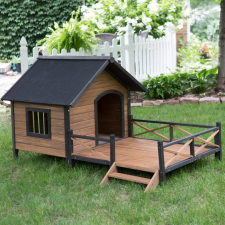 Boomer George Lodge House With Porch Dog House Large X32 75 Walmart Com