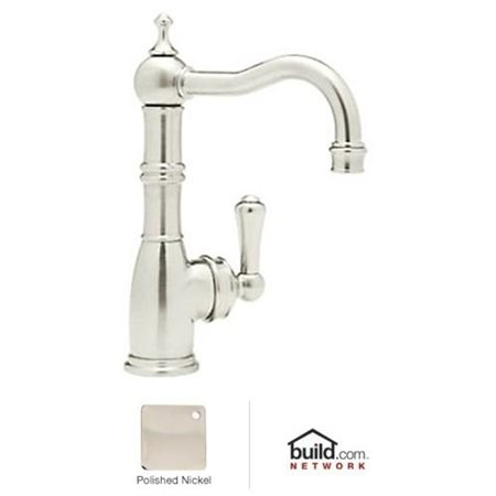 perrin rowe edwardian era single lever single hole bar faucet in polished nickel with 6 1 2 reach spout