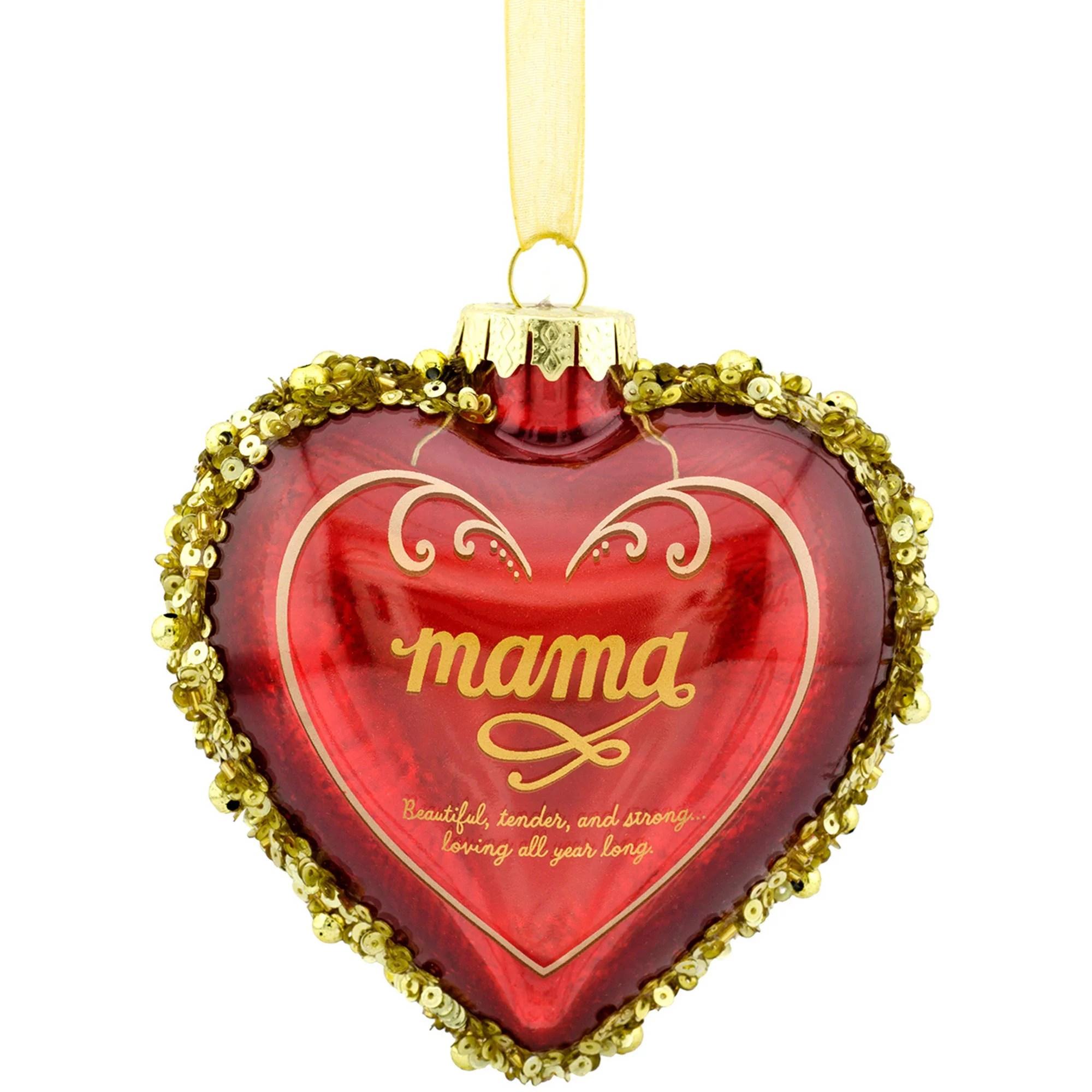 Hallmark Mahogany African American Mamas Heart Ornament