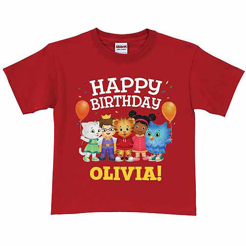 Daniel Tiger S Neighborhood Personalized Daniel Tiger S Neighborhood Toddler Birthday Red T Shirt In Sizes 2t 3t 4t 5 6t Walmart Com Walmart Com