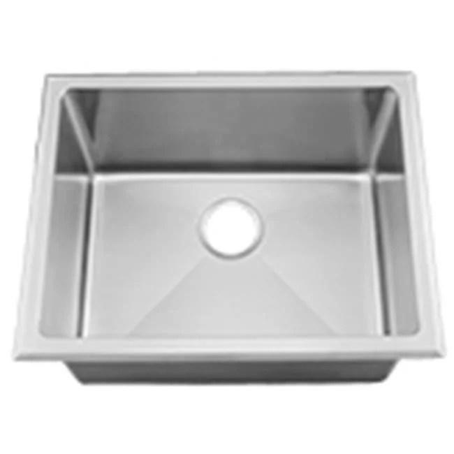ci hr ha450b 15 gauge radial milam stainless steel deep laundry sink