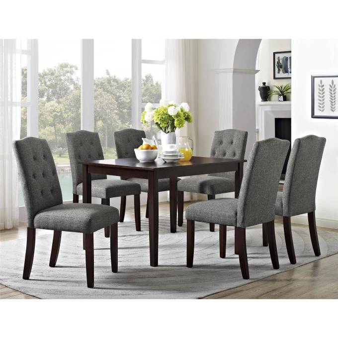 e8840e75f458 Better Homes And Gardens 7 Piece Dining Set With Upholstered Chairs
