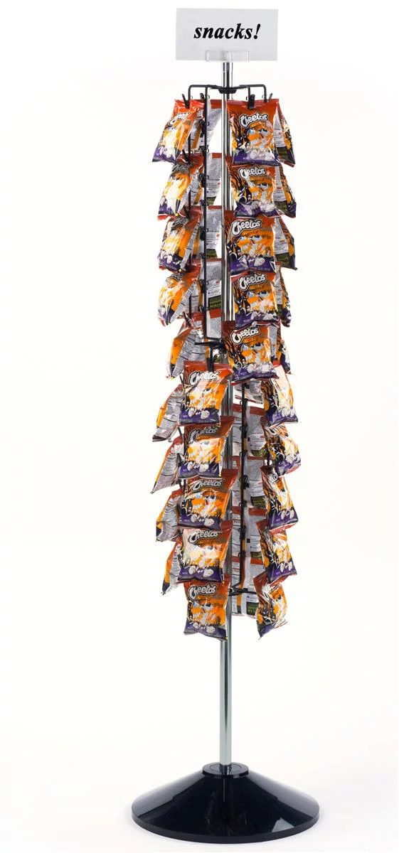 displays2go potato chip rack with clip strips 61 h walmart com