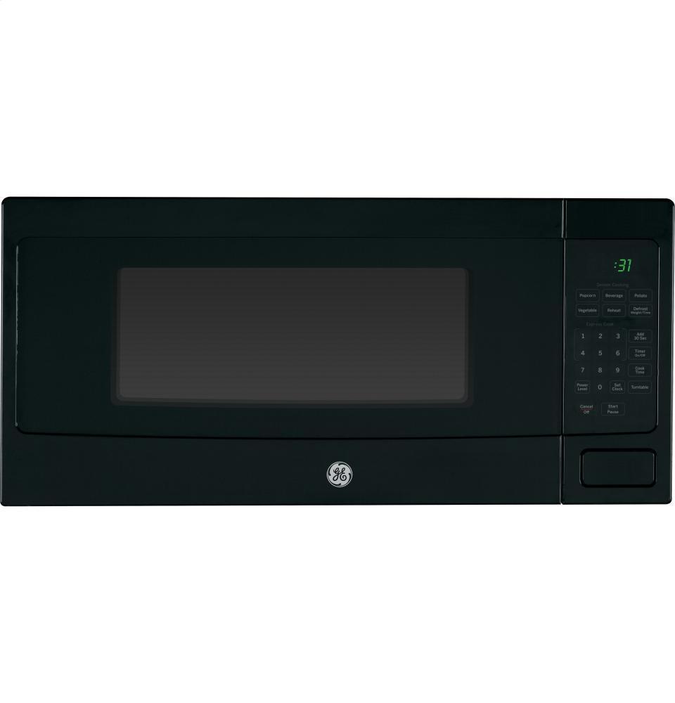 ge profile 1 1 cu ft countertop microwave oven black 800 w